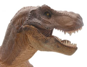 Tyrannosaurus rex, model with moving jaws, standing pose, Brown