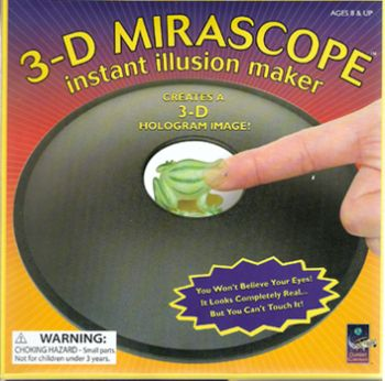 3-D Mirascope with fossil, Instant Illusion Maker