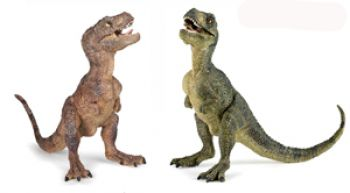 Baby Tyrannosaurus rex, model with moving jaws