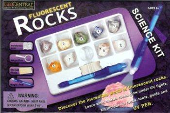 Fluorescent Rocks Kit With UV Light