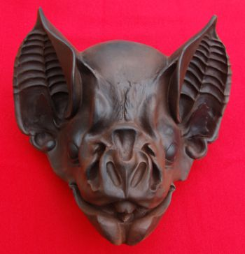 Giant 3D Bat Head