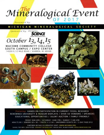 Detroit Gem, Mineral & Fossil Show Visit Prehistoric Planet There