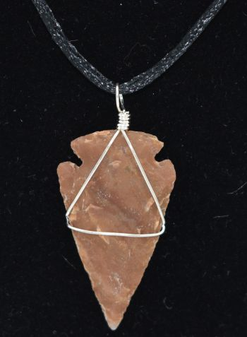 Wire Wrapped Stone Replica Arrowhead Necklace/Pendant