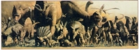 Dinosaur Panorama, 3 foot long poster, laminated NOW 25% OFF