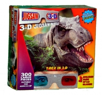 T-Rex 3D Puzzle with 3D Glasses