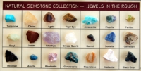 Natural Gemstone Collection Jewels in the Rough  21 Specimen Kit