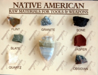 Native American Raw Materials for Tools and Wepons  8 Specimen Kit