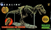 3D Tyrannosaurus rex Skeleton Kit With 60 Pieces