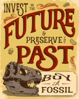 Invest in the Future Buy a Fossil, poster