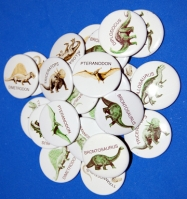 Dinosaur Party Favors, 25 pins
