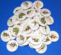 Dinosaur Party Favors, 50 pins